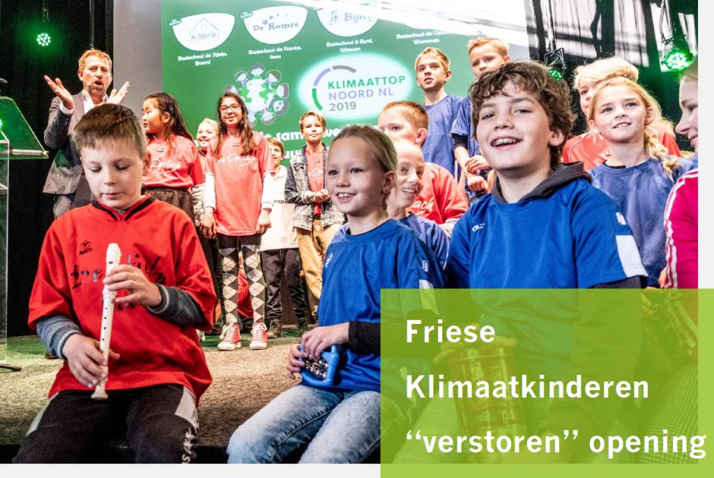 Friese kinderen op de klimaattop